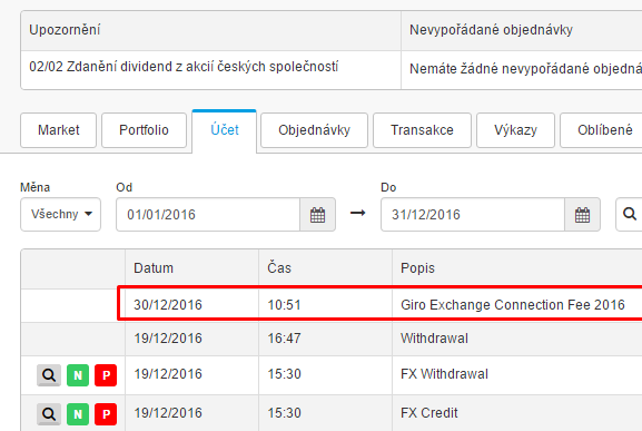 Degiro Exchange connection fee 2016