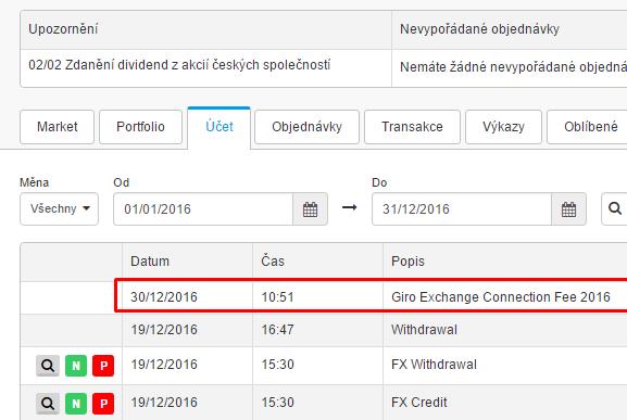 Degiro Exchange connection fee 2016